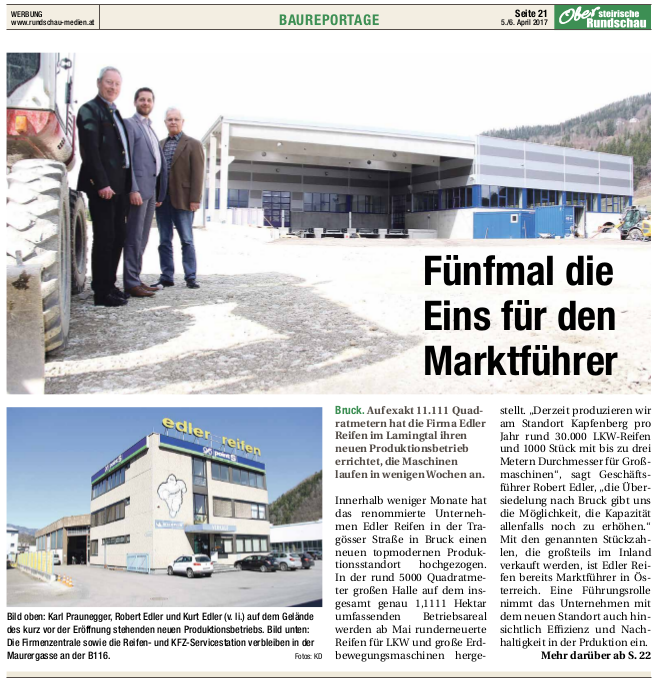 Baureportage Obersteirische Rundschau